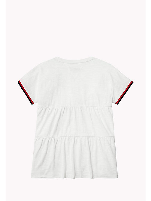 TOMMY HILFIGER Tiered V-Neck T-Shirt - BRIGHT WHITE - TOMMY HILFIGER Girls - detail image 1