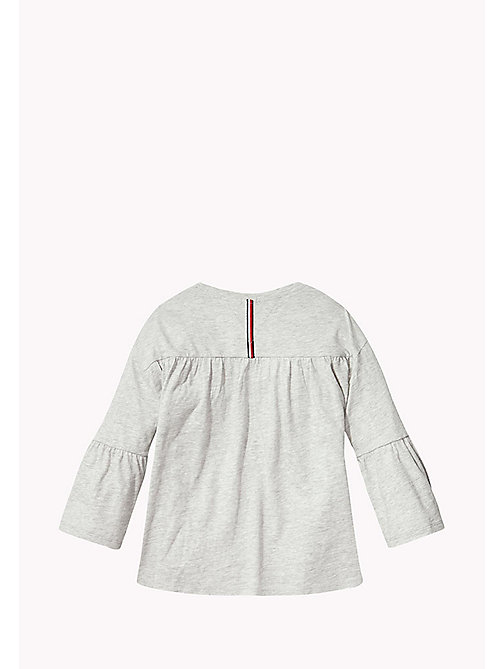 TOMMY HILFIGER 3/4 Length Sleeve T-Shirt - LIGHT GREY HTR - TOMMY HILFIGER Tops & T-shirts - detail image 1