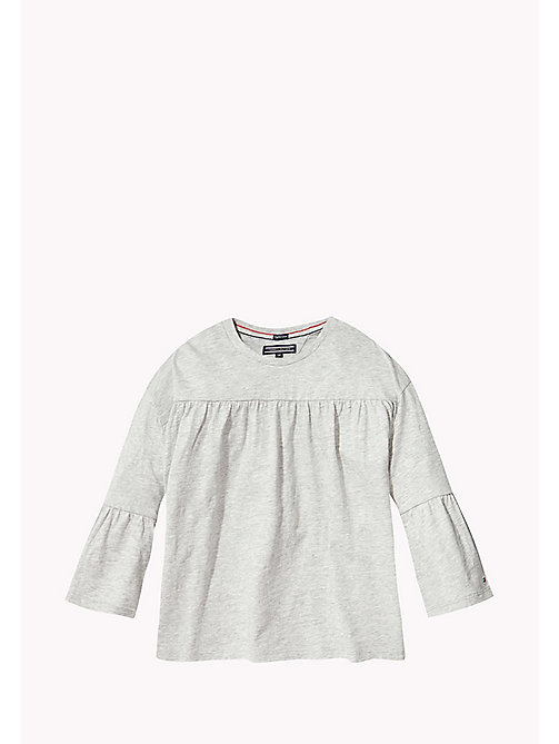 TOMMY HILFIGER 3/4 Length Sleeve T-Shirt - LIGHT GREY HTR - TOMMY HILFIGER Girls - main image