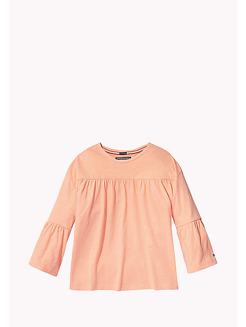 TOMMY HILFIGER 3/4 Length Sleeve T-Shirt - PAPAYA PUNCH - TOMMY HILFIGER Girls - main image