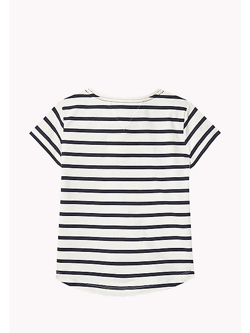 TOMMY HILFIGER Stripe Heart T-Shirt - BLACK IRIS - TOMMY HILFIGER Tops & T-shirts - detail image 1