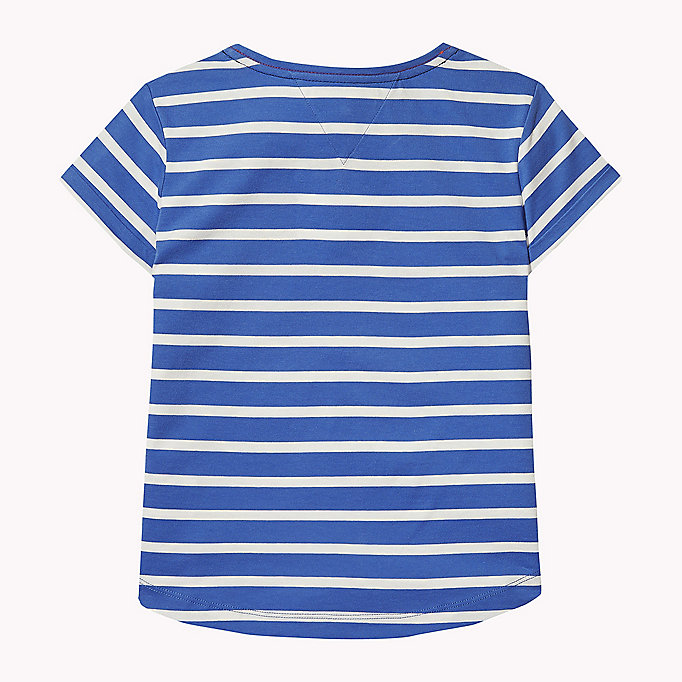 TOMMY HILFIGER Stripe Heart T-Shirt - BLACK IRIS - TOMMY HILFIGER Kids - detail image 1