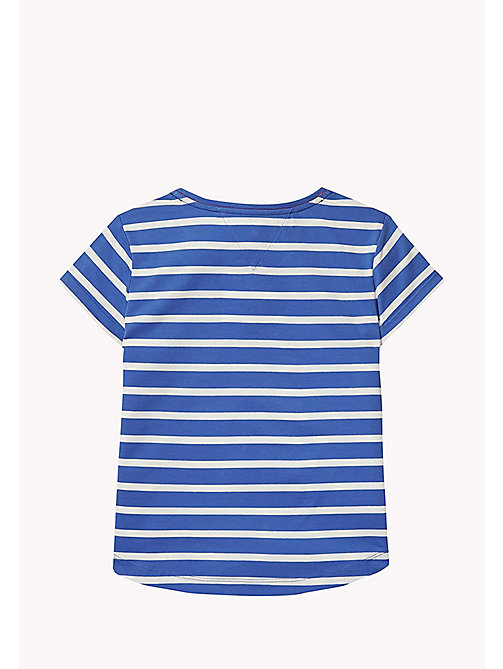 TOMMY HILFIGER Stripe Heart T-Shirt - NAUTICAL BLUE - TOMMY HILFIGER Girls - detail image 1