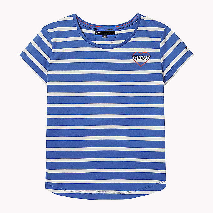 TOMMY HILFIGER Stripe Heart T-Shirt - BLACK IRIS - TOMMY HILFIGER Kids - main image