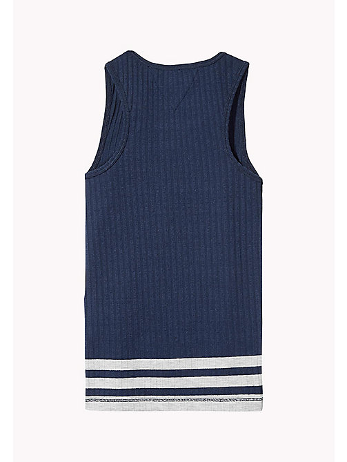 TOMMY HILFIGER Knitted Tank Top - BLACK IRIS -  Tops & T-shirts - detail image 1