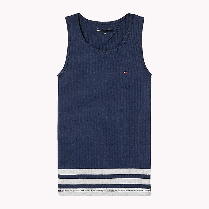 TOMMY HILFIGER Knitted Tank Top - BRIGHT WHITE - TOMMY HILFIGER Kinderen - main image