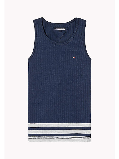 TOMMY HILFIGER Knitted Tank Top - BLACK IRIS - TOMMY HILFIGER Girls - main image