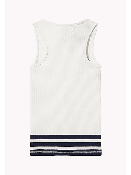 TOMMY HILFIGER Knitted Tank Top - BRIGHT WHITE - TOMMY HILFIGER Tops & T-shirts - detail image 1
