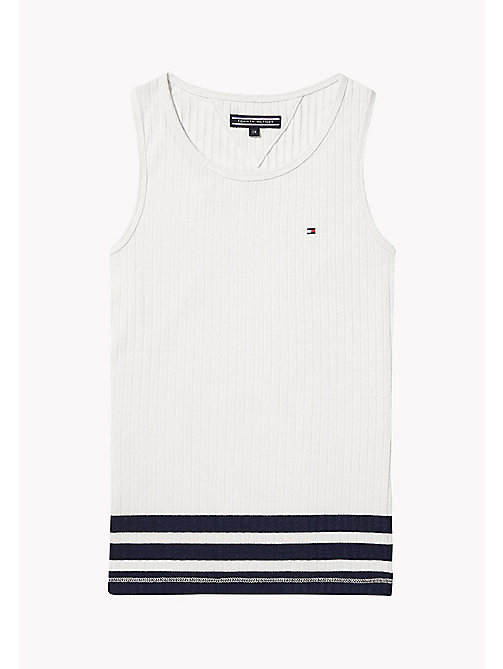 TOMMY HILFIGER Knitted Tank Top - BRIGHT WHITE - TOMMY HILFIGER Tops & T-shirts - main image