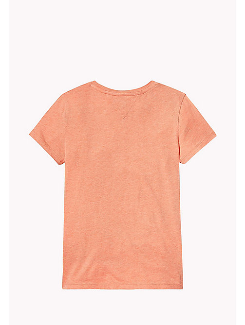TOMMY HILFIGER Knotted T-Shirt - SPICED CORAL HEATHER - TOMMY HILFIGER Girls - detail image 1
