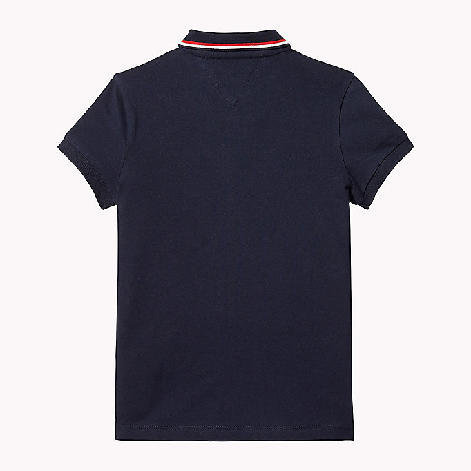 TOMMY HILFIGER Cotton Polo Shirt - BRIGHT WHITE - TOMMY HILFIGER Kids - detail image 1