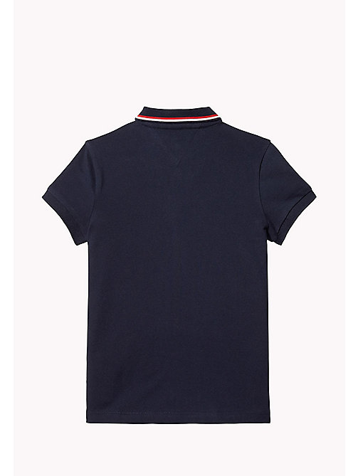 TOMMY HILFIGER Cotton Polo Shirt - BLACK IRIS - TOMMY HILFIGER Tops & T-shirts - detail image 1