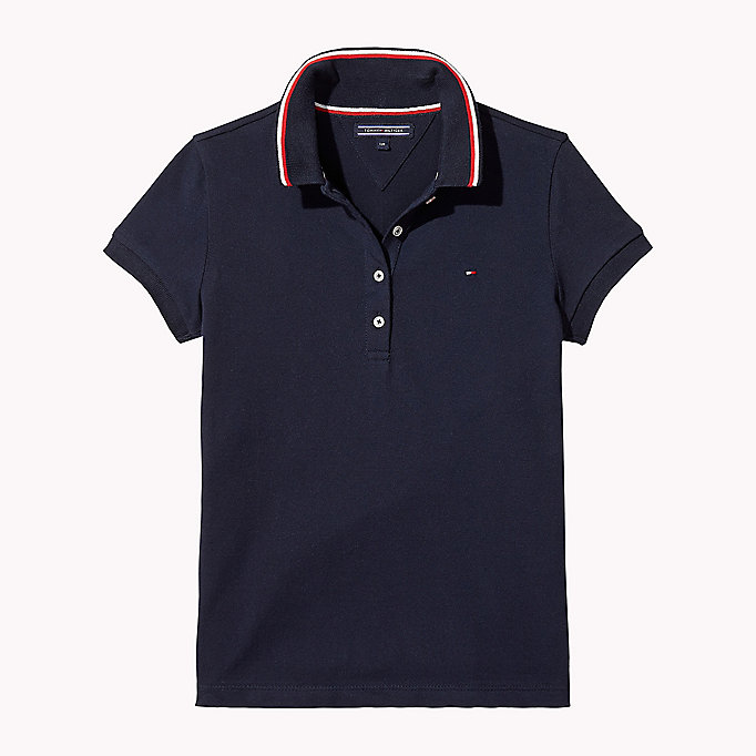 TOMMY HILFIGER Cotton Polo Shirt - BRIGHT WHITE - TOMMY HILFIGER Kids - main image