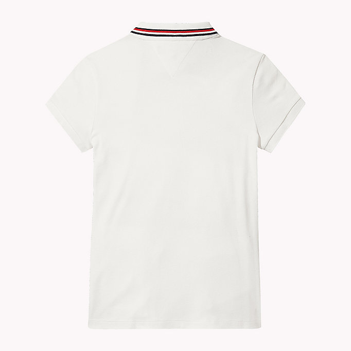 TOMMY HILFIGER Cotton Polo Shirt - PAPAYA PUNCH - TOMMY HILFIGER Kids - detail image 1
