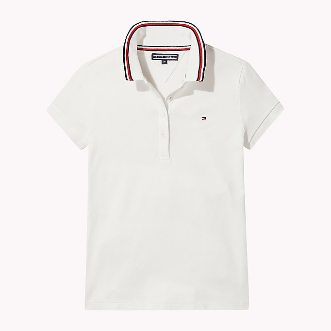 TOMMY HILFIGER Cotton Polo Shirt - PAPAYA PUNCH - TOMMY HILFIGER Kids - main image
