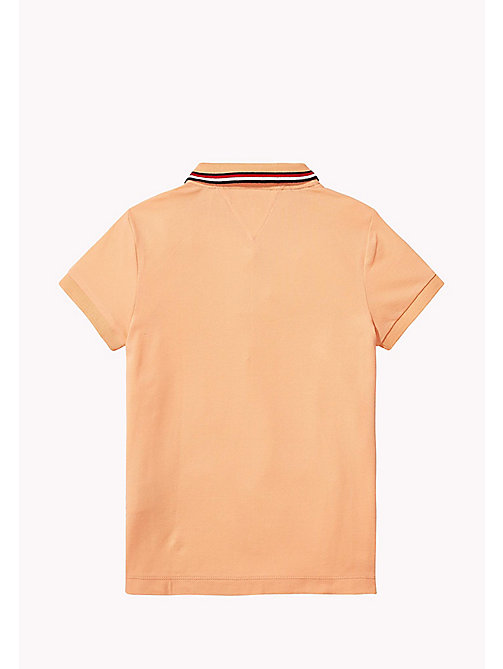 TOMMY HILFIGER Cotton Polo Shirt - PAPAYA PUNCH - TOMMY HILFIGER Girls - detail image 1