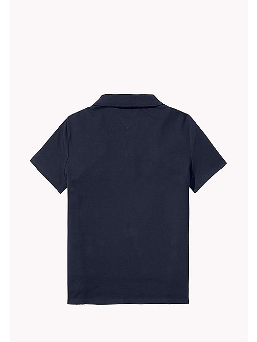 TOMMY HILFIGER BRIGHT BADGE POLO S/S - BLACK IRIS - TOMMY HILFIGER Tops & T-shirts - detail image 1