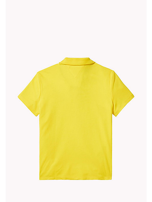 TOMMY HILFIGER Kids polo met racebadge - EMPIRE YELLOW - TOMMY HILFIGER Meisjes - detail image 1