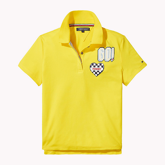 TOMMY HILFIGER BRIGHT BADGE POLO S/S - BLACK IRIS - TOMMY HILFIGER Kids - main image