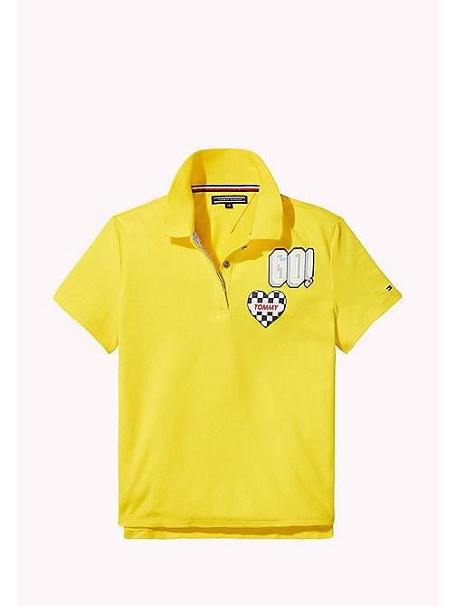 TOMMY HILFIGER Kids polo met racebadge - EMPIRE YELLOW - TOMMY HILFIGER Meisjes - main image