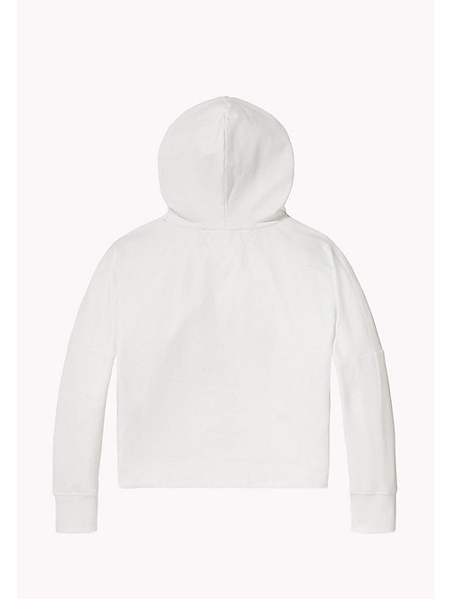 TOMMY HILFIGER Kids' Colour-Blocked Hoodie - BRIGHT WHITE - TOMMY HILFIGER Sweatshirts & Hoodies - detail image 1