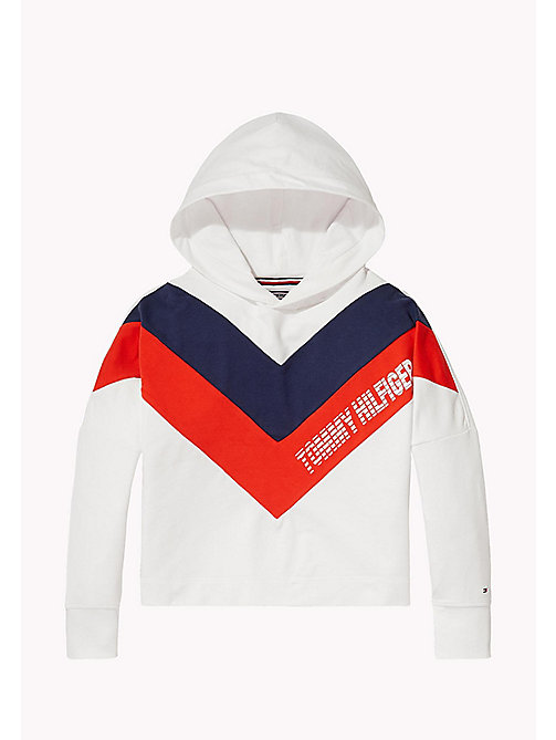 TOMMY HILFIGER Kids' Colour-Blocked Hoodie - BRIGHT WHITE - TOMMY HILFIGER Sweatshirts & Hoodies - main image