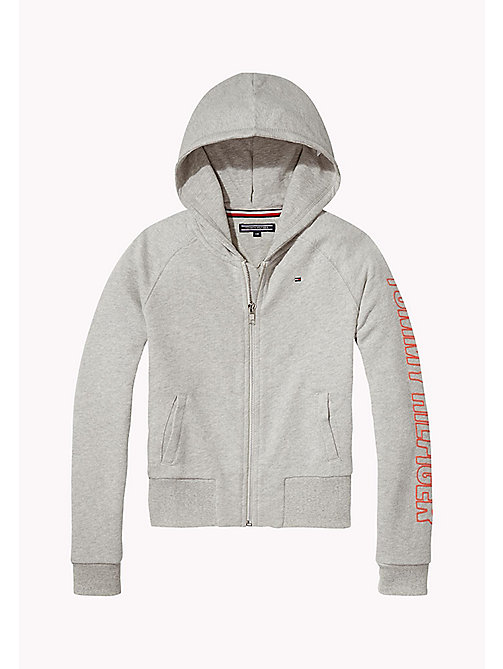 TOMMY HILFIGER Regular Fit Hoodie - LIGHT GREY HTR - TOMMY HILFIGER Sweatshirts & Hoodies - main image