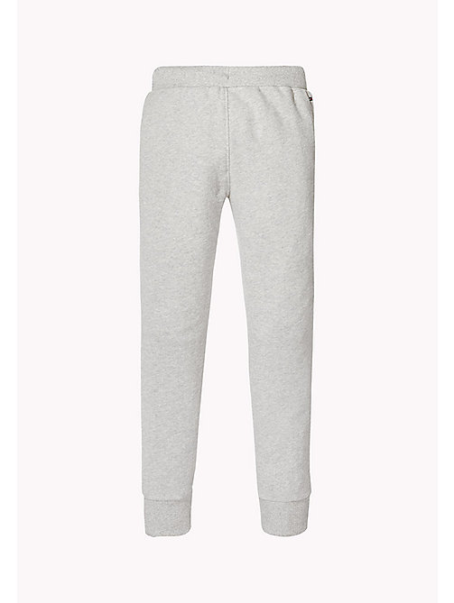 TOMMY HILFIGER Printed Cotton Terry Joggers - LIGHT GREY HTR - TOMMY HILFIGER Trousers & Skirts - detail image 1