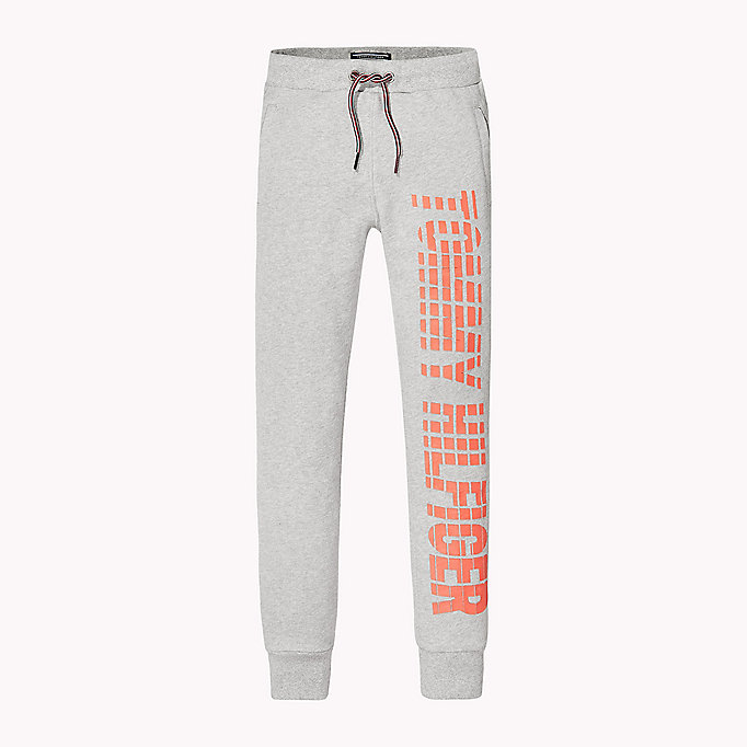 TOMMY HILFIGER Printed Cotton Terry Joggers - PAPAYA NAPS - TOMMY HILFIGER Kids - main image