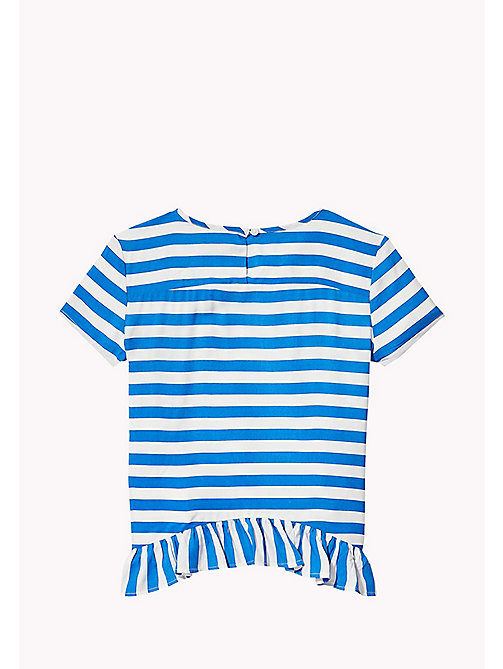 TOMMY HILFIGER Stripe Peplum Top - NAUTICAL BLUE - TOMMY HILFIGER Girls - detail image 1