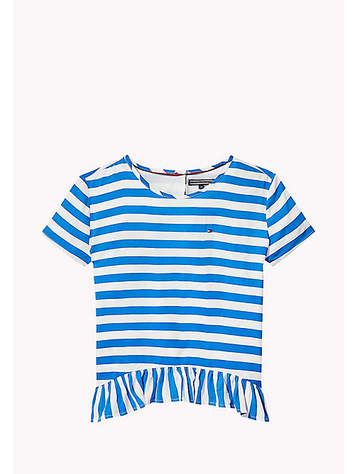 TOMMY HILFIGER Stripe Peplum Top - NAUTICAL BLUE - TOMMY HILFIGER Girls - main image