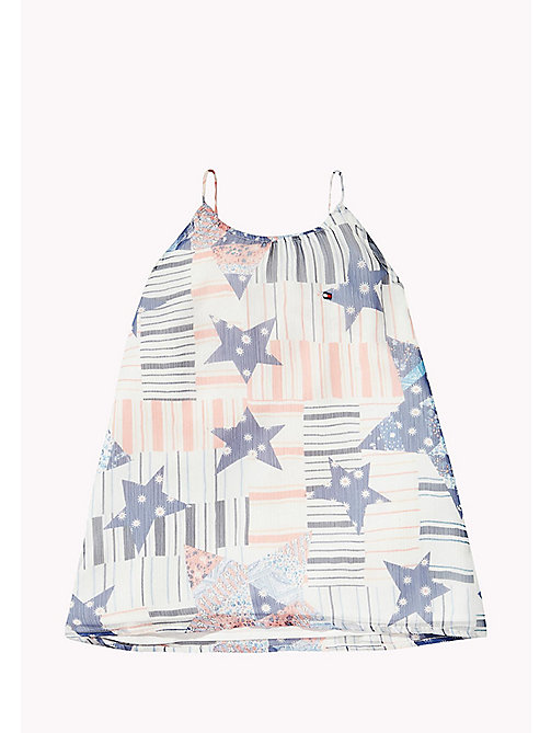 TOMMY HILFIGER Star Print Top - BRIGHT WHITE - TOMMY HILFIGER Girls - main image