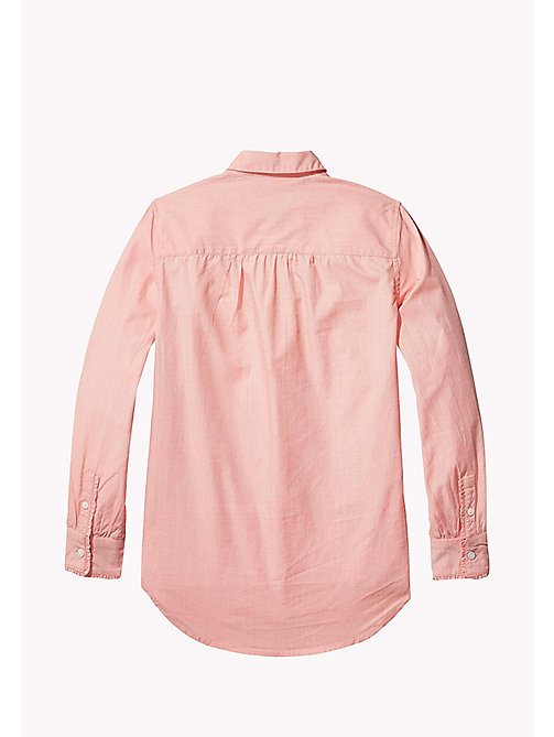 TOMMY HILFIGER Long Sleeve Shirt - SPICED CORAL - TOMMY HILFIGER Girls - detail image 1