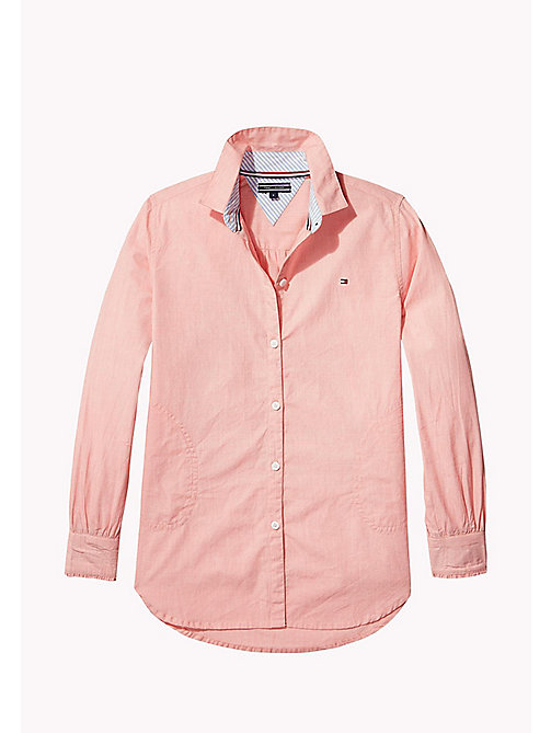 TOMMY HILFIGER Long Sleeve Shirt - SPICED CORAL -  Tops & T-shirts - main image