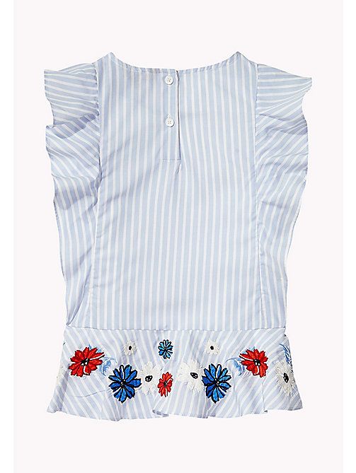 TOMMY HILFIGER Fun Stripe Ruffle Top - SERENITY - TOMMY HILFIGER Tops & T-shirts - detail image 1