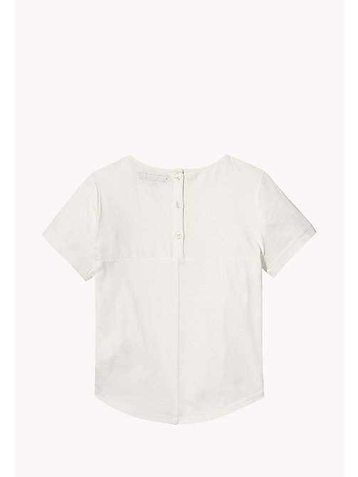 TOMMY HILFIGER Embroidered Knot Top - BRIGHT WHITE - TOMMY HILFIGER Girls - detail image 1