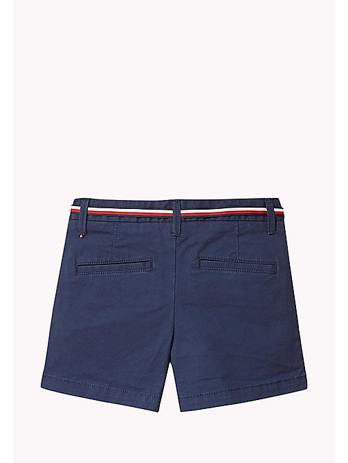 TOMMY HILFIGER Organic Cotton Belted Shorts - BLACK IRIS - TOMMY HILFIGER Trousers & Skirts - detail image 1