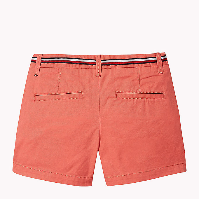 TOMMY HILFIGER Organic Cotton Belted Shorts - BLACK IRIS - TOMMY HILFIGER Kids - detail image 1