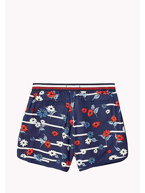 TOMMY HILFIGER Floral Stripe Shorts - BLACK IRIS - TOMMY HILFIGER Girls - detail image 1