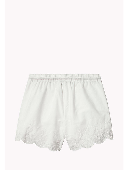 TOMMY HILFIGER Elasticated Embroidered Shorts - BRIGHT WHITE - TOMMY HILFIGER Girls - detail image 1