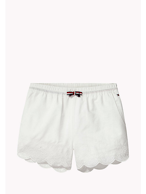 TOMMY HILFIGER Elasticated Embroidered Shorts - BRIGHT WHITE - TOMMY HILFIGER Girls - main image