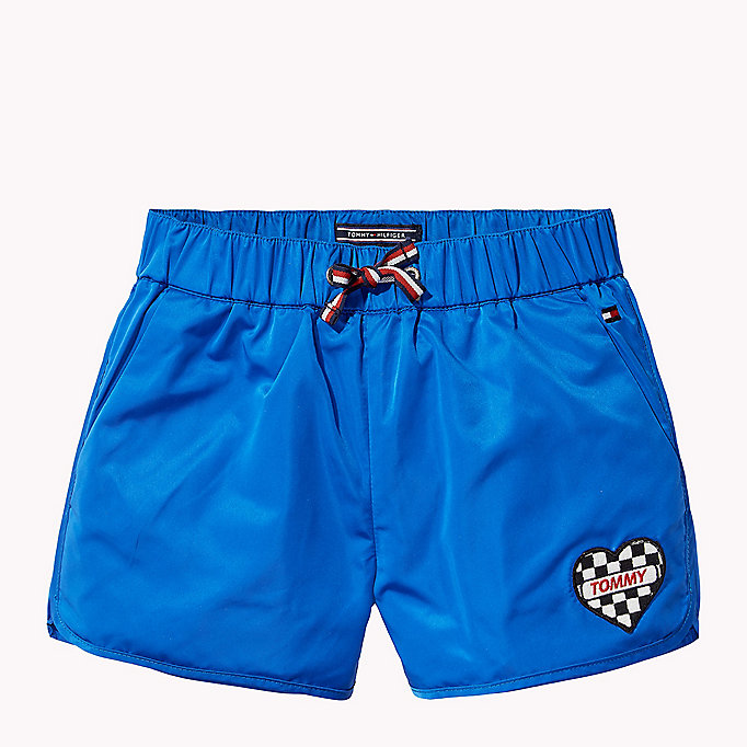 TOMMY HILFIGER Bright Satin Shorts - FLAME SCARLET - TOMMY HILFIGER Kids - main image