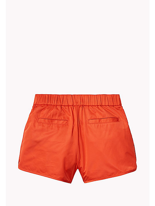 TOMMY HILFIGER Bright Satin Shorts - FLAME SCARLET - TOMMY HILFIGER Trousers & Skirts - detail image 1