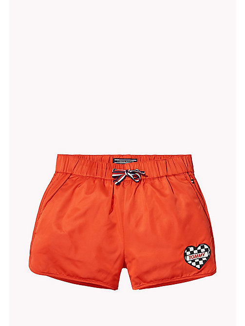 TOMMY HILFIGER Bright Satin Shorts - FLAME SCARLET - TOMMY HILFIGER Trousers & Skirts - main image