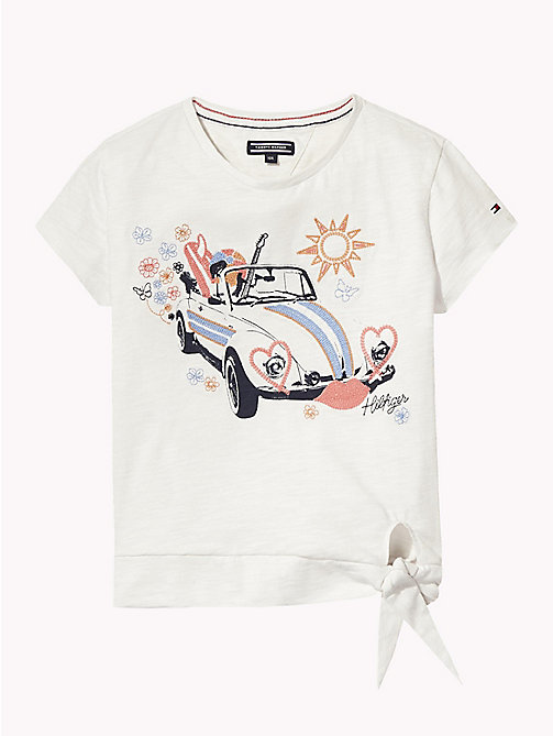 TOMMY HILFIGER Embroidered T-Shirt - BRIGHT WHITE - TOMMY HILFIGER Girls - main image