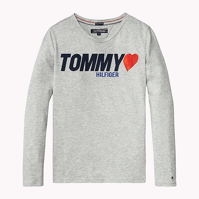 TOMMY HILFIGER Heart Logo T-Shirt - BRIGHT WHITE - TOMMY HILFIGER Kids - main image