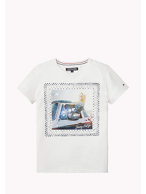 TOMMY HILFIGER Printed Crew Neck T-Shirt - BRIGHT WHITE -  Tops & T-shirts - main image