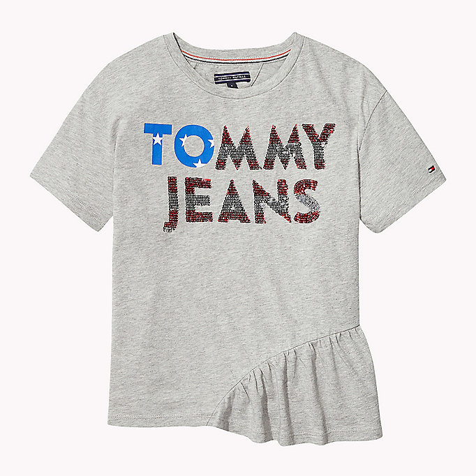 TOMMY HILFIGER Sequined Logo T-Shirt - BLACK IRIS - TOMMY HILFIGER Kids - main image