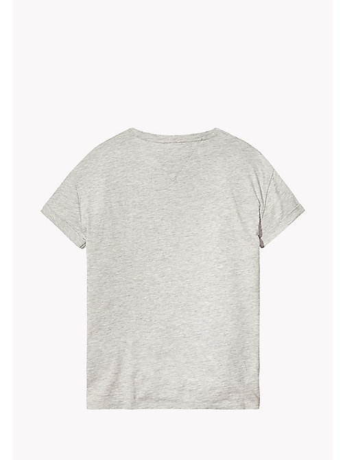 TOMMY HILFIGER Printed Knot T-Shirt - LIGHT GREY HTR - TOMMY HILFIGER Tops & T-shirts - detail image 1