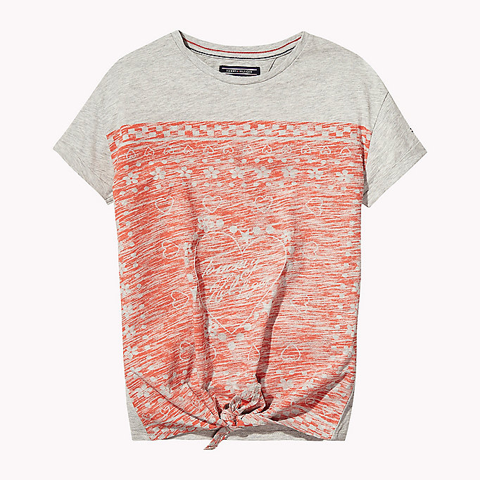 TOMMY HILFIGER Printed Knot T-Shirt - BRIGHT WHITE - TOMMY HILFIGER Kids - main image